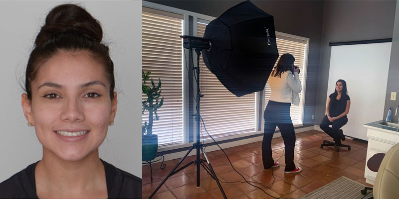 Example of dental patient photography using a softbox.