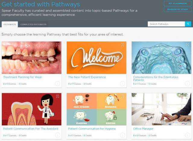 Online dental CE Pathways