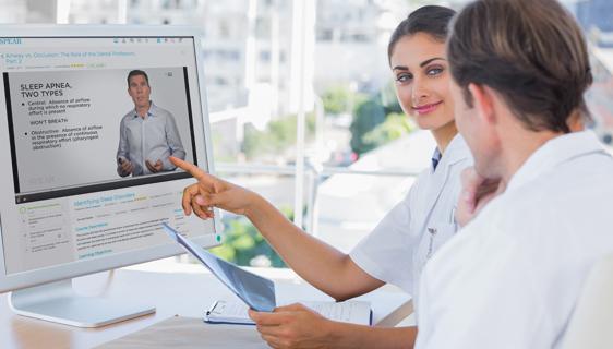 Online dental staff training