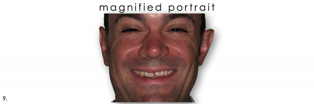 dental photography magnified portrait