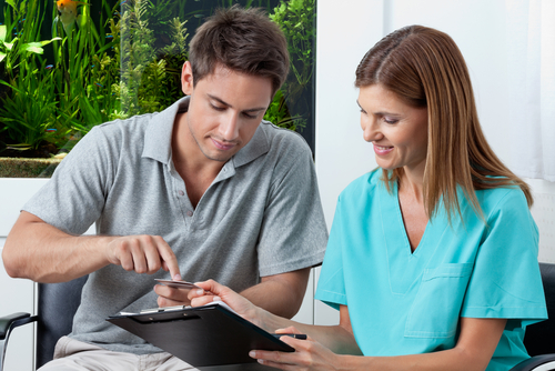 patient making payment medical billing