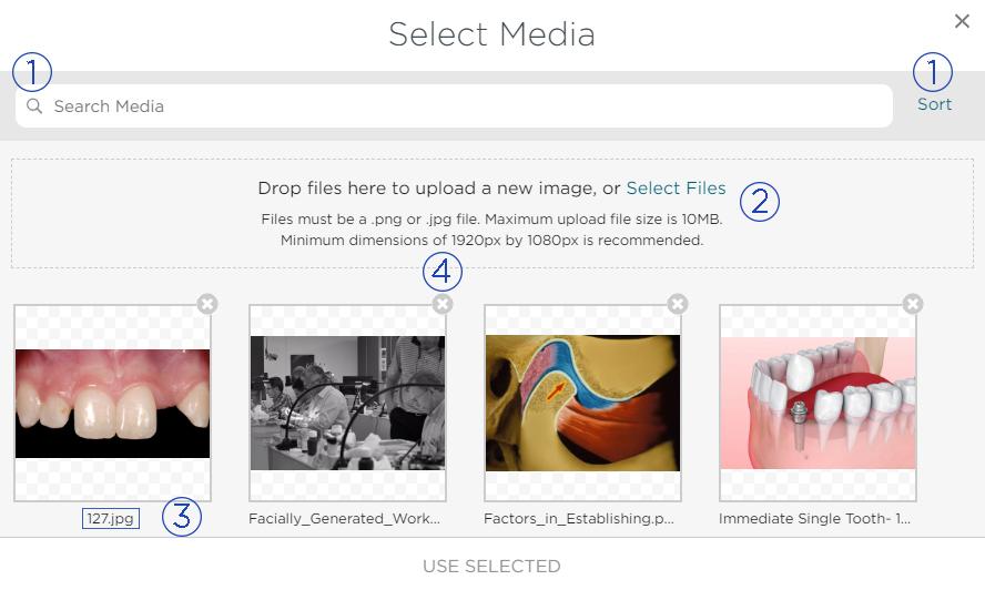 Select Media Menu
