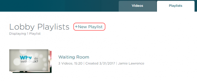 Create new playlist