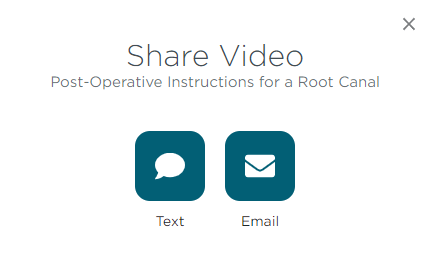 Share video email text