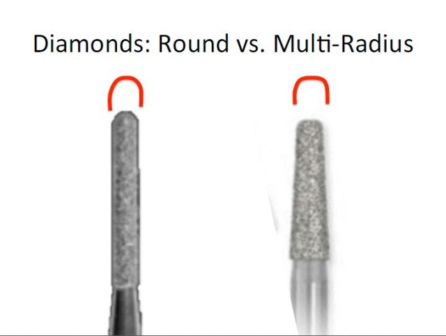 round diamond multi radius bur