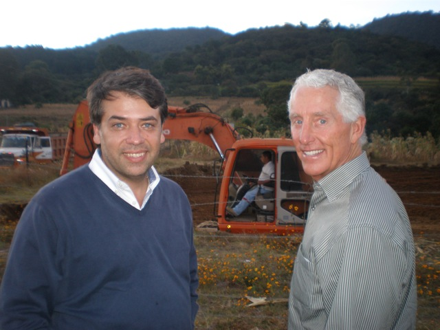 With Edwin Escobar at the site being prepared for the clinic