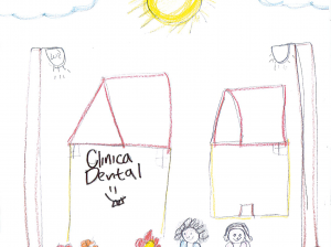 The new clinic—a young artist's conception