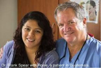 Dr. Frank Spear with Rosie, a patient in Guatemala.