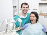 happy dentist and patient