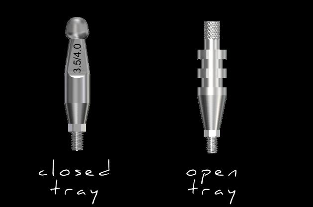'Closed Tray' vs. 'Open Tray' Implant Impressions