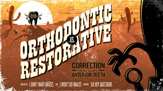 Orthodontic vs. Restorative: Correction of Mal-Aligned Anterior Teeth