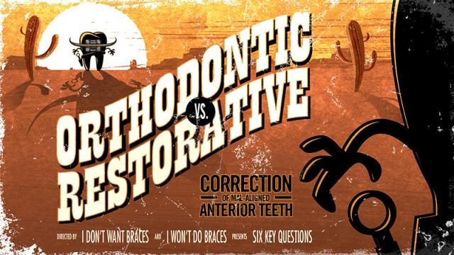 Orthodontic vs. Restorative: Correction of Mal-Aligned Anterior Teeth